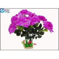 Quality OEM Beautiful Cheered Rose Plastic Artificial Plants Fish Tank Landscaping Decoration Acessories for sale