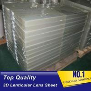 Quality 120cmx240cm 20 LPI UV large format lenticular sheet thickness 3 mm designed for flip effect on digital printer for sale