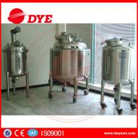 Quality DYE Steam Heating Stainless Steel Water Tanks Alcohol Yoghurt for sale