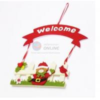Quality Fashion Style Felt Welcome Sign Board for Christmas Decoration for sale