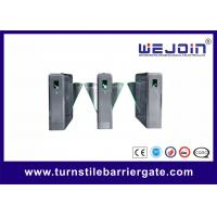 China Retractable Flap Barrier Gate Stainless Steel Pedestrian Turnstiles Wing Barrier on sale