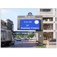 Quality WIFI Commercial Advertising Outdoor Electronic Signage , Wall Mounted IP54 Full Color LED Sign for sale