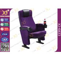 Quality Plastic Folded Cinema Seat / Movie Theater Chairs With Adjustable Cup Holder for sale