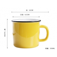 Quality Mixed Color 350CC 12x8.5x8.2cm Personalised Ceramic Mugs for sale