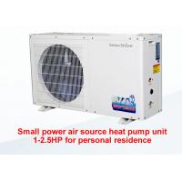 Quality White Small Air Source Heat Pump Circulation Heating Freestanding Installation for sale