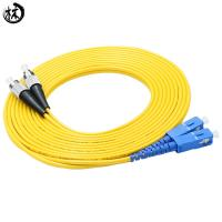 Quality Durability Upc Sm Dx Fc Sc Patch Cord , Fiber Optic Ethernet Cable 3 Meter for sale