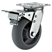 "Quality Gray TPR Wheel 8"" x 2"" Heavy Duty Industrial Casters With Lockable for sale"