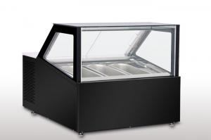 China Counter Top Gelato Showcase Ventilatioin Cooling -16 to -20 degree 3 or 4pcs 5L Gelato Pan on sale