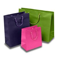 Quality Matte Colored Jewelry Gift Bags Aqueous Coating Technics For Shopping for sale