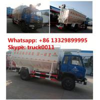 Quality dongfeng 153 RHD 20m3 electronic system discharging animal feed delivery truck, dongfeng brand 4*2 RHD 10tons feed truck for sale