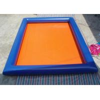 Quality Outdoor Blue Inflatable Swimming Pool 6m x 4m Rectangle Blow Up Pool for sale
