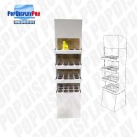 Quality 4 Shelf 1 Poster Cardboard Floor Display Stand , Floor Display Racks With Dividers for sale