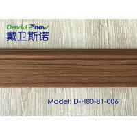 Quality 15 mm Thickness Plastic PVC Skirting Boards Flexible PVC Board Wood Pattern for sale