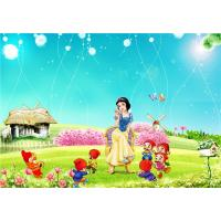 Quality Eco Friendly Bamboo Fiber 3D Embossed Wall Panels Snow White Seven Dwarfs for sale