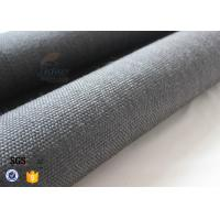 Quality 800gsm Black Vermiculite Coated Fiberglass Fabric Thermal Insulation Materials for sale