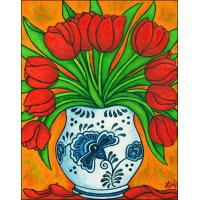Quality flower painting famous flower designs for sale