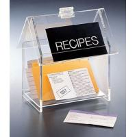 Quality Hot Sale!!! Factory Handmade Manufacturing Acrylic Clear Recipe Card Box for 4x6 Card for sale