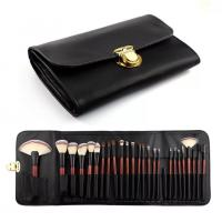 Buy cheap Double Bags 26 Cosmetic Makeup Brush Set Animal Hair Wood Handle Material from wholesalers