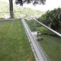 Quality Aluminum U channel 12mm thick clear tempered glass balustrade for Balcony for sale