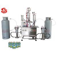 Quality HCFC Refrigerant Aerosol Can Filling Machine , Automatic Aerosol Filling Machine for sale