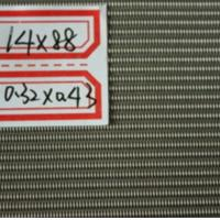 Quality SGS certificate 304& 316 14X88mesh Stainless Steel Dutch Weaving Wire Mesh for sale