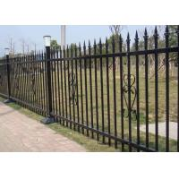 Quality Powder Coated Security Picket Tubular Steel Fence , Ornamental Fence Panels for sale