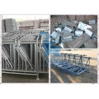 Quality Galvanized Locking Feed Barriers , Spring Adjustable Cattle Head Lock Agricultural Equipment for sale