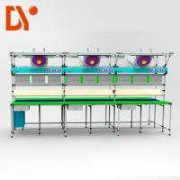 China Aluminium Work Table Lean Production Line Adjustable Spped For Light Industry on sale