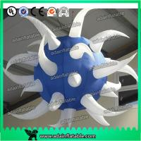 Quality White And Blue Club Hanging Decoration Inflatable Star Customized for sale