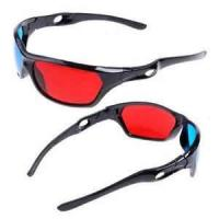 Quality universal Black Frame Anaglyphic Red Cyan prescription safety 3D glasses, chroma depth glasses for children for sale