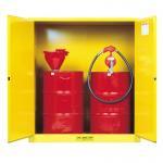 Quality Steel Vertical Drum Storage Cabinets , Double Door 200L Flammable Drum Cabinet for sale