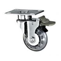 Quality 3 Inch Medical Caster Wheels With Clean PU Wheel Swivel Plate Fitting for sale
