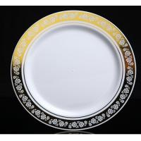 China GOLD 25 round disposable plastic 10.25 dinner plate on sale