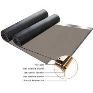 Quality Non woven compound glassfiber mat SBS modified bitumen waterproof membrane for sale