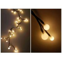 Quality 220V Indoor LED String Lights 2.5 Meters 72 Warm White Bulbs For Xmas for sale