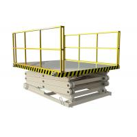 Quality Warehouse Hydraulic Lift Ladder Size Customized For Loading / Unloading Goods for sale