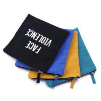 Quality Canvas Portable Pencil Case Various Styles Cotton Material Letter Pattern for sale