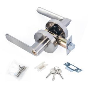 Buy Satin Nickel Lever Set Lock Living Room Bedroom Bathroom Tubular Door Handle at wholesale prices