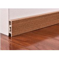 Quality CE Wooden Color Waterproof PVC Vinyl Skirting Board For Floor / Wall Base for sale