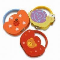 Quality Animal Musical Toys, Made of Wood, Measures 15 x 15 x 4.5cm for sale
