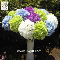 Quality UVG FHY21 Flower artificial wedding bouquets silk hydrangea for wedding stage decoration for sale