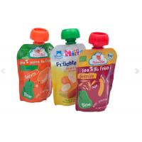 Quality Durable And Leakage-proof Customize Printed Spout Pouch Doypacks With Nozzle for Fruit Juice and Any Liquid substance for sale