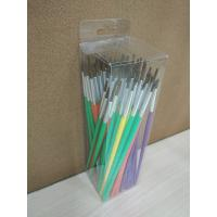Quality Pony Hair Artist Painting Brushes Set Long Handle With 6 Sizes 12 Pcs Per Size for sale