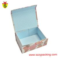 Quality Flower Fabric Magnet Paper Boxes Foldable Use For Children's Gift And Packaging Coloful for sale