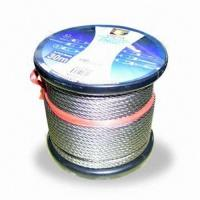 Quality Stainless Steel Wire Rope with 304L and 316L with Custom Made Label for sale