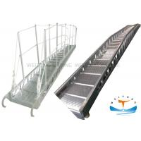 Quality Aluminum Gangway Marine Boat Ladders Steel Wharf Ladder For Seagoing Vessels for sale