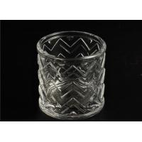 Quality Wedding Glass Candle Holder Decorations / Glass Candle Sleeve Glassware for sale
