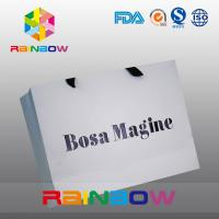 Buy Eco - friendly Customized Paper Bags With Handle For Apparel Packaging at wholesale prices