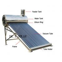 China CE certified 150liter non pressure vacuum tube all stainless steel solar water heater on sale