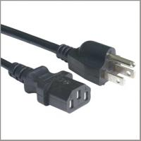 Quality UL ceritfied power supply cord with IEC320 C13 female connector, North American cord set for sale